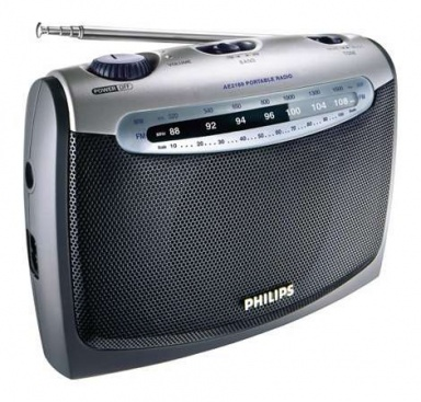 Radiopřijímač Philips AE2160, stříbrný