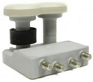 Konvertor LNB Mascom MonoBlock Quad, 4. účastníci / 2 družice, bílý