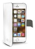 Pouzdro na mobil flipové Celly Wally pro iPhone 5/5s/SE - bílé