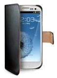 Pouzdro na mobil flipové Celly Wally pro Galaxy S3 - černé