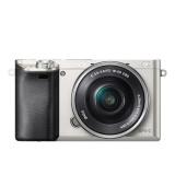 CSC fotoaparát Sony Alpha 6000 + 16-50 OSS SEL, stříbrný
