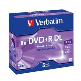 Disk Verbatim DVD+R DualLayer, 8,5GB, 8x, 5ks