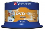 Disk Verbatim DVD-R 4.7GB, 16x, printable, 50-cake