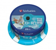 Disk Verbatim CD-R 700MB/80min, 52x, Printable, 25cake