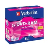 Disk Verbatim DVD-RAM  4,7GB 3x jewel box, 5ks