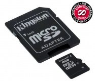 Paměťová karta Kingston MicroSDHC 8GB Class4 + adapter