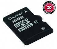 Paměťová karta Kingston MicroSDHC 16GB Class4