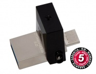 Flash USB Kingston DataTraveler Micro Duo 3.0 32GB OTG MicroUSB/USB 3.0 - černý
