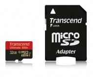Paměťová karta Transcend MicroSDHC 32GB UHS-I U1 (90MB/s) + adapter