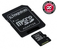 Paměťová karta Kingston MicroSDHC 32GB Class4  + adapter