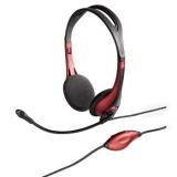 Headset Hama HS-250 - červený
