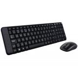 Klávesnice s myší Logitech Wireless Combo MK220, CZ/SK  - černá