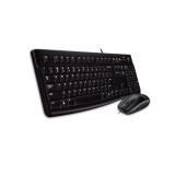 Klávesnice s myší Logitech Desktop MK120, CZ/SK  - černá