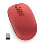 Myš Microsoft Wireless Mobile Mouse 1850 Flame Red / optická / 2 tlačítka / 1000dpi - červená