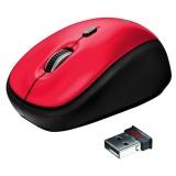 Myš Trust Yvi Wireless / optická / 3 tlačítka / 1600dpi - červená