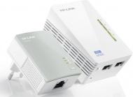 Síťový rozvod LAN po 230V TP-Link TL-WPA4220 KIT + IP TV na 1 měsíc ZDARMA 500 Mb/s, neprůchozí