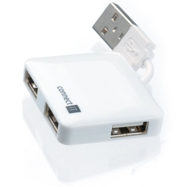 USB Hub Connect IT USB 2.0 / 4x USB 2.0 - bílý