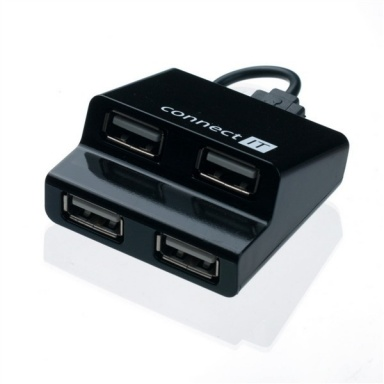 USB Hub Connect IT USB 2.0 / 4x USB 2.0 - černý