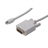 Kabel Digitus miniDisplayPort - DVI(24+1), 1m - bílý