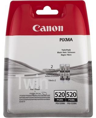 Inkoustová náplň Canon PGI-520BK, 420 stran originální - černá