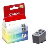 Inkoustová náplň Canon CL-51C, 330 stran originální - červená/modrá/zelená
