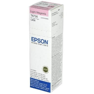 Inkoustová náplň Epson T6736, 70ml - originální - světle červená