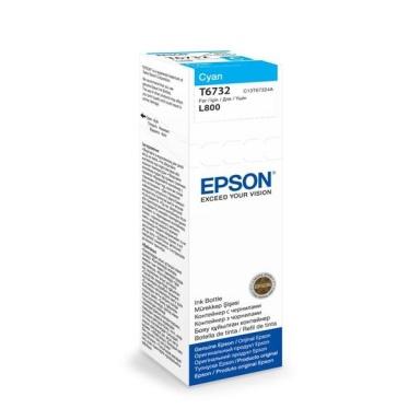 Inkoustová náplň Epson T6732, 70ml originální - modrý