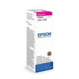 Inkoustová náplň Epson T6643, 70ml originální - červený