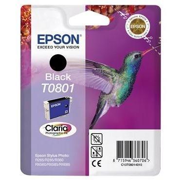 Inkoustová náplň Epson T0801, 7,4ml  originální - černá