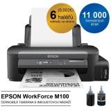 Tiskárna inkoustová Epson WorkForce M100, CIS A4, 34str./min, 1440 x 720, USB