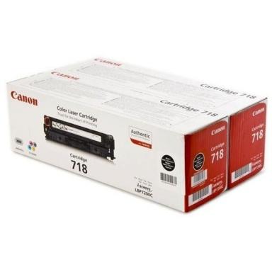 Toner Canon CRG-718Bk, 2 x 3,4K stran originální - černý