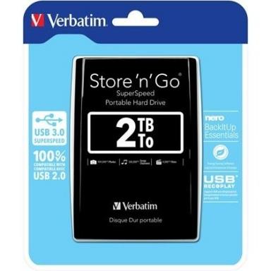 """HDD ext. 2,5"""" Verbatim Store \'n\' Go 2TB - černý"""