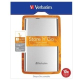 """HDD ext. 2,5"""" Verbatim Store \'n\' Go 1TB - stříbrný"""