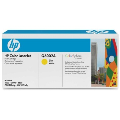 Toner HP Q6002A, 2K stran originální - žlutá