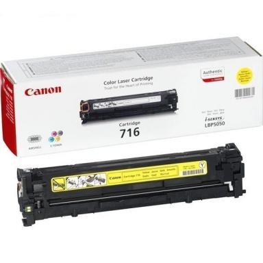 Toner Canon CRG-716Y, 1,5K stran originální - žlutý