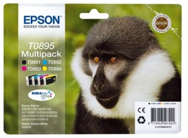 Inkoustová náplň Epson T0895, 5,8ml, CMYK originální