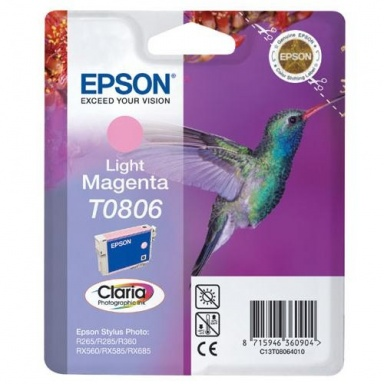 Inkoustová náplň Epson T0806, 7,4ml  originální - červená