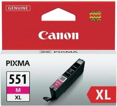 Inkoustová náplň Canon CLI-551XL M, 660 stran originální - červená