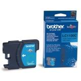 Inkoustová náplň Brother LC-1100C, 325 stran originální - modrá