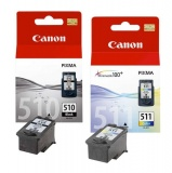 Inkoustová náplň Canon PG-510 / CL-511, 9ml originální - černá/červená/modrá/žlutá