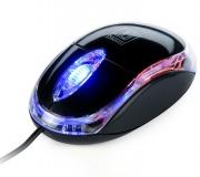 Myš Connect IT LED podsvícená / optická / 3 tlačítka / 800dpi - černá