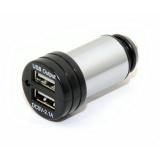 Adaptér do auta Compass USB 12-24V 5V/2100mA E homologace