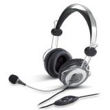 Headset Genius HS-04SU - eerný/stoíbrný
