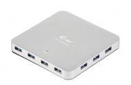 USB Hub i-tec USB 3.0 / 10x USB 3.0 - stříbrný