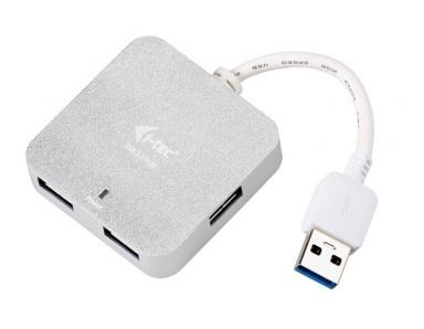 USB Hub i-tec USB 3.0 / 4x USB 3.0 - stříbrný