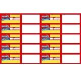 POS materiál - cenovka ECS 150x40 regal výprodej 100 ks