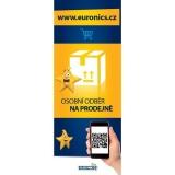 POS materiál Euronics - Návlek na bránu Euronics, služba VÝDEJNA, 120x46cm