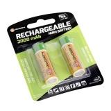 Baterie nabíjecí GoGEN AA, HR06, 2000mAh, Ni-MH, blistr 2ks