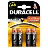 Baterie alkalická Duracell Basic AA, LR06, blistr 4ks