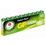 Baterie alkalická GP Super AA, fólie 10ks
